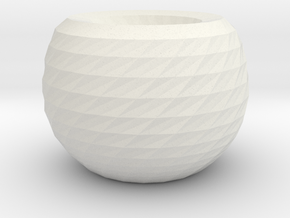 twisted ball vase 2 in White Natural Versatile Plastic