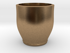 red cap cup 2 in Natural Brass