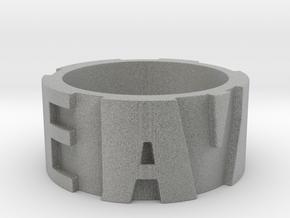 DEADALIVE Ring Size 12 in Metallic Plastic