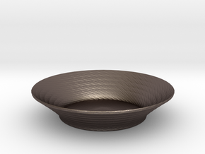 nero salad bowl 2 in Polished Bronzed Silver Steel