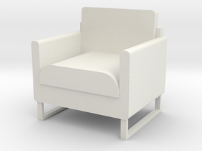 "1/2"" scale Arm Chair in White Natural Versatile Plastic"