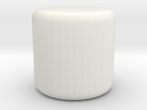 footstool in White Natural Versatile Plastic