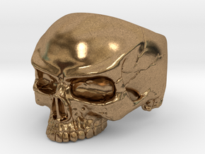 WR Ring HalfSkull - Size 3.5 in Natural Brass