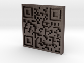QRCode -- Mary Lu Wason Studio Art Jewelry in Polished Bronzed Silver Steel
