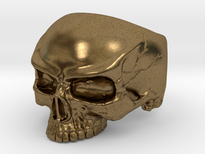 WR Ring HalfSkull - Size 3.5 in Natural Bronze