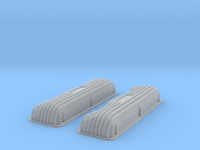 1 12 409 Finned No Logo Valve Covers File in Frosted Ultra Detail