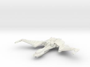 Qu'Hegh Bird Of Pray Class Cruiser -wings Up- in White Strong & Flexible