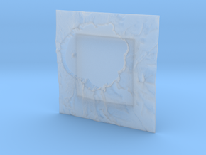 4'' Crater Lake, Oregon, USA in Smooth Fine Detail Plastic