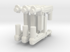 Mp40 gun for lego and bricks in White Natural Versatile Plastic