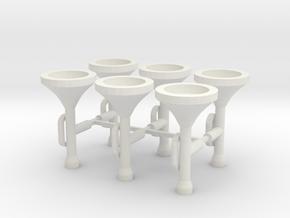 Fanfare Trumpet Set in White Natural Versatile Plastic