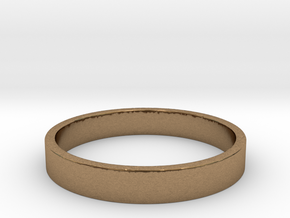 simple ring Ring Size 7 in Natural Brass