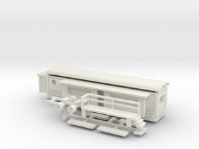 Wohnwagen Tonnendach für 1:160 (n scale) in White Natural Versatile Plastic