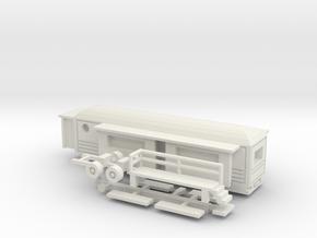 Wohnwagen rundes Dach für 1:220 (z scale) in White Strong & Flexible
