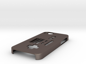 NES Controller iPhone 5 case in Polished Bronzed Silver Steel