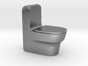 Toilet in Natural Silver