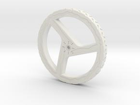 100mmFloppyBotWheel-02 in White Natural Versatile Plastic
