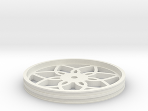 90mmFloppyBotWheel-03 in White Strong & Flexible