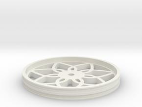 90mmFloppyBotWheel-03 in White Natural Versatile Plastic