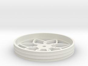 100mmFloppyBotWheel-01 in White Natural Versatile Plastic