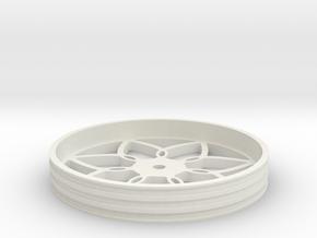 100mmFloppyBotWheel-03 in White Natural Versatile Plastic