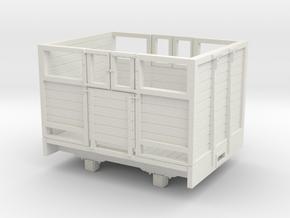 1:32/1:35 sheep wagon short in White Natural Versatile Plastic