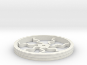 100mmFloppyBotWheel-04 in White Natural Versatile Plastic