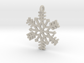 Snowflake Pendant in Natural Sandstone