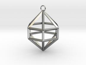 Gem Ornament in Natural Silver