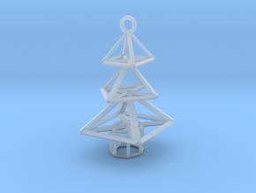 Modern Christmas Tree Earrings in Smooth Fine Detail Plastic
