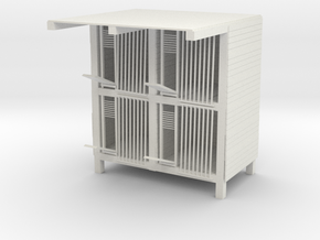 Pigeon House in White Natural Versatile Plastic