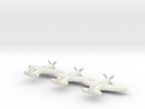P-47D (Triplet) 1:900 in White Natural Versatile Plastic