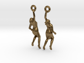 Earrings 'Golden lady' in Natural Bronze