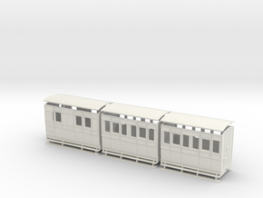 1:32/1:35 set of 4 wheel coaches  in White Natural Versatile Plastic