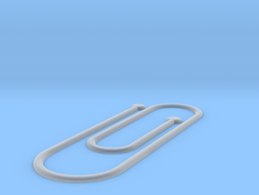Paper-clip Book Mark  in Smooth Fine Detail Plastic