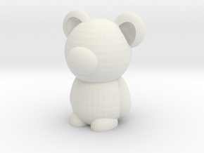 Bear in White Natural Versatile Plastic