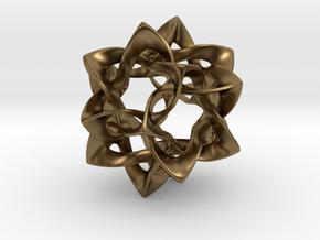 Icosahedron II, medium in Natural Bronze