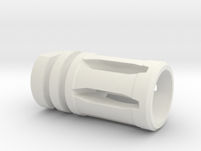 M16 Flash Suppressor in White Natural Versatile Plastic