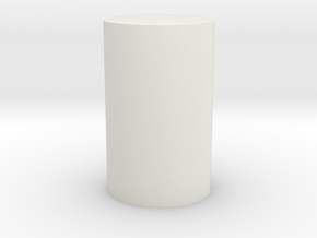 Solid Cylinder in White Strong & Flexible