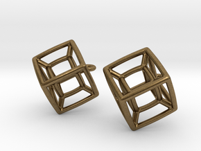 Tesseract Ears in Natural Bronze