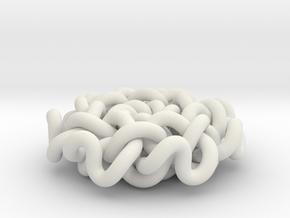 Geometric Flower Knot Pendant  in White Natural Versatile Plastic