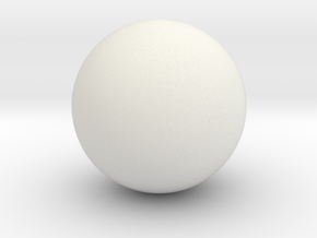 Large Ball in White Natural Versatile Plastic