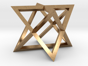 Star Tetrahedron in Natural Brass