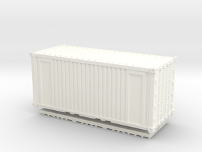 Z Scale 20' Intermodal Container in White Strong & Flexible Polished