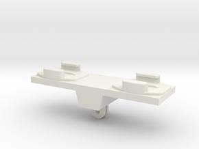 Dual GoPro Quick Release Mount in White Natural Versatile Plastic