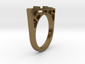 Bridge Ring in Natural Bronze