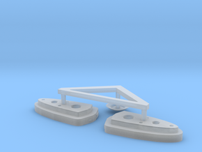 BSG Frigate Top Sensor Dome And Burners in Smooth Fine Detail Plastic
