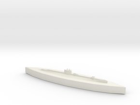 HMS Salmon 1:1800 in White Natural Versatile Plastic