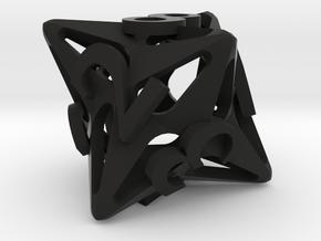 Pinwheel d8 Ornament in Black Natural Versatile Plastic