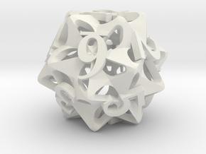 Pinwheel d12 Ornament in White Natural Versatile Plastic