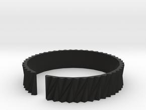 Arch1(big) - Plastic bracelet. in Black Natural Versatile Plastic